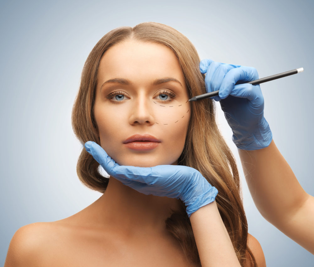 What does facial cosmetic surgery consist of?